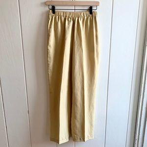 Vintage 100% Silk Pierre Cardin Pull-on Pants